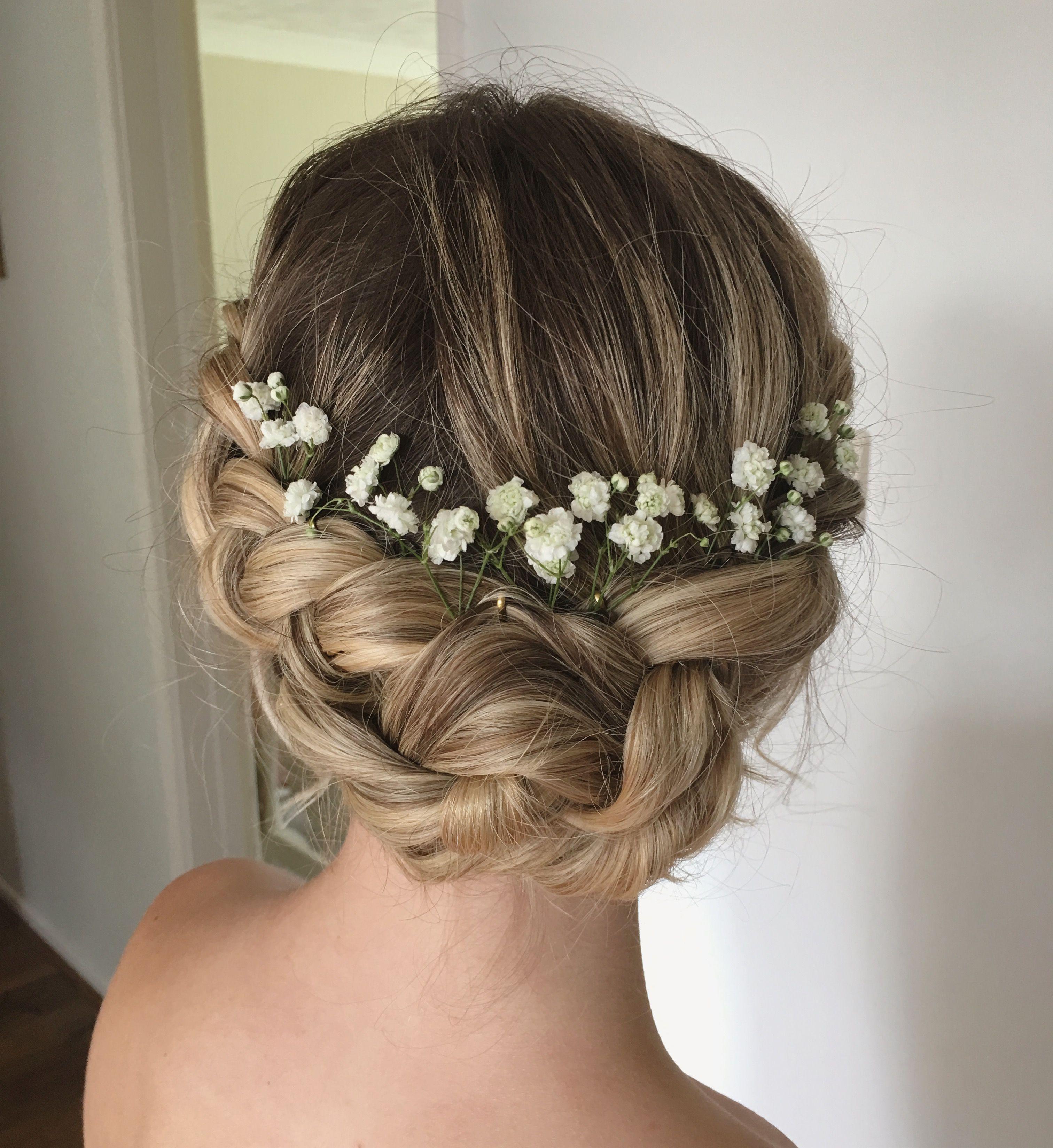 boho wedding hair. an updo with braids | my wedding hair in