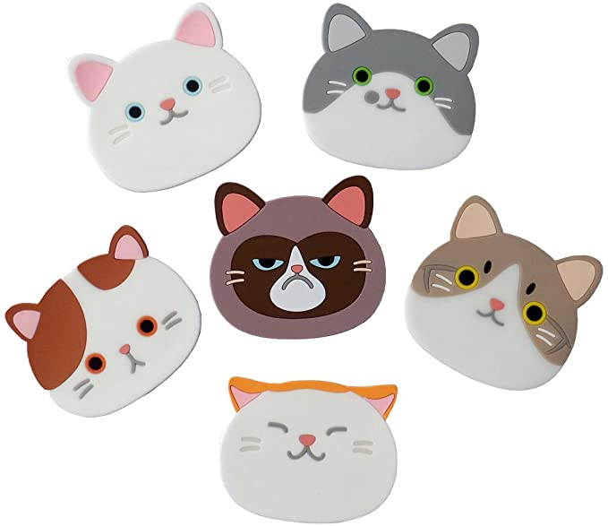 YunKo QUTE Cat Cup Mat Silicone Rubber Coaster