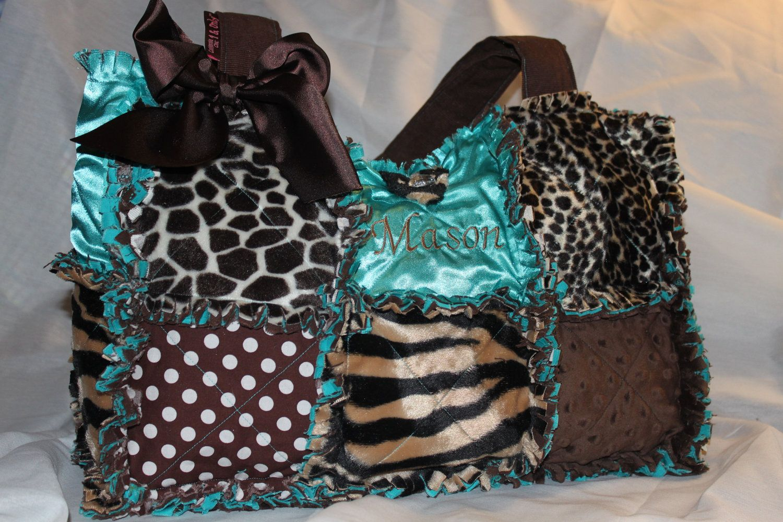 Custom Made Rag Quilt Diaper Bag For Leopard By Calchicbyjacquiek 90 00