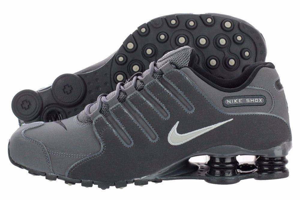 new arrival 28732 eecc4 ... BRAND NEW MENS NIKE SHOX NZ PREMIUM RUNNING SHOES SNEAKERS DARK GREY  378341-059 ...