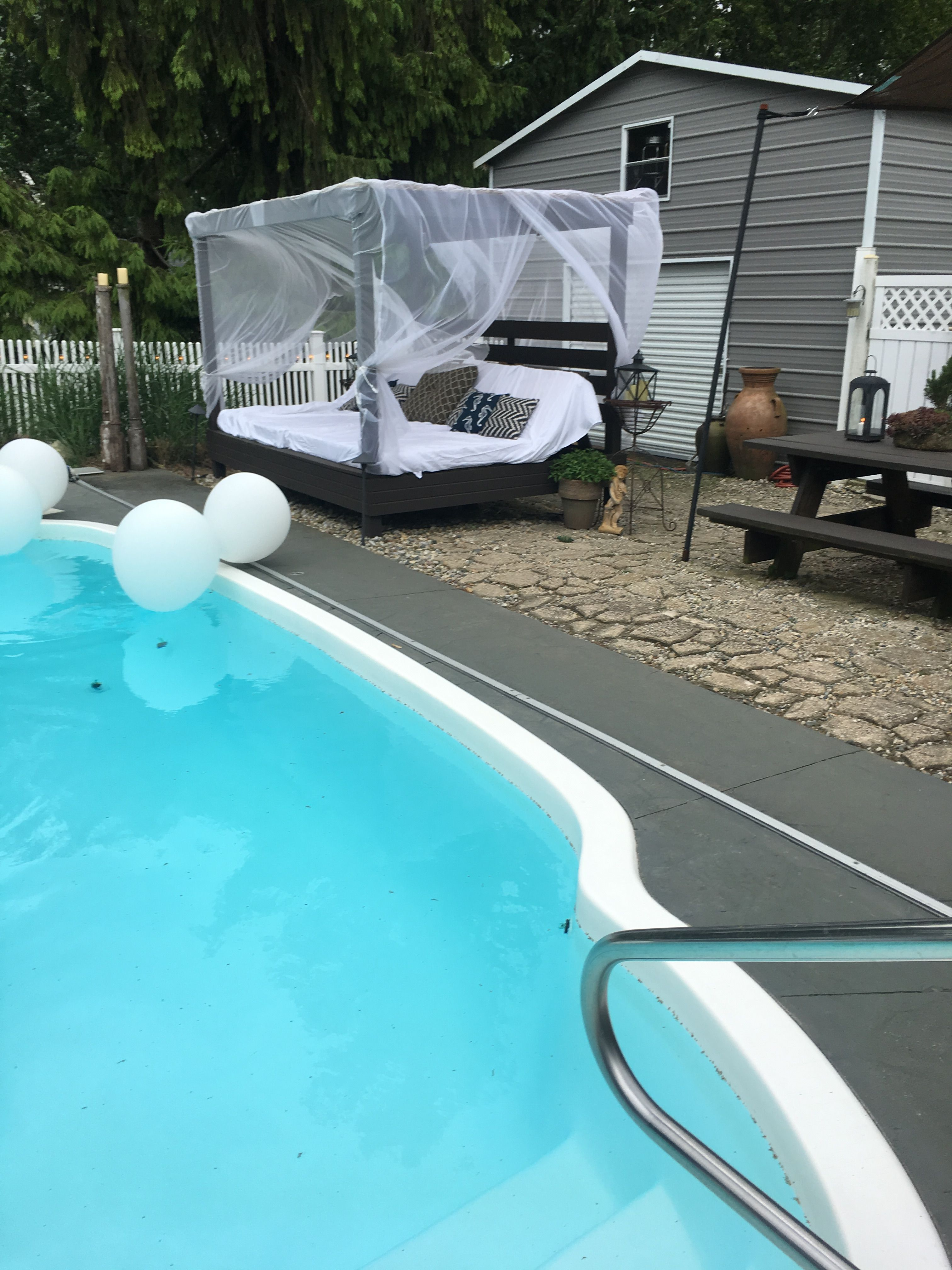 Our beds by the pool Outdoor decor, Outdoor, Decor