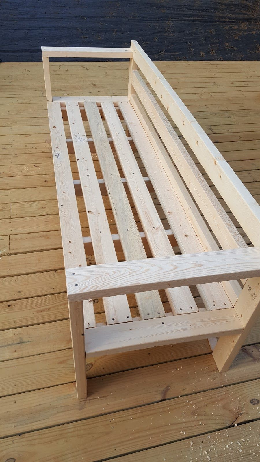 DIY Outdoor Wood Sofas #wood