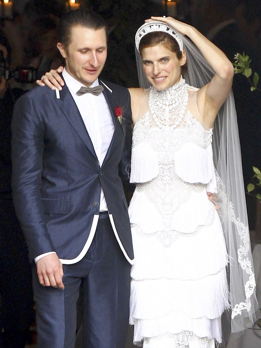 Photos From Lake Bell And Scott Campbell S New Orleans Wedding At Marigny Opera House Wore A Custom Tiered Marchesa Dress For The Vows