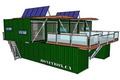 shipping container office plans. HoneyBox INC. Shipping Container Architecture Office Plans