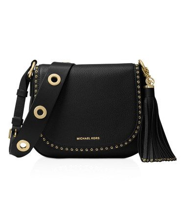 bb2d584bb5e51a Love this Black Brooklyn Medium Leather Crossbody Bag on #zulily! # zulilyfinds