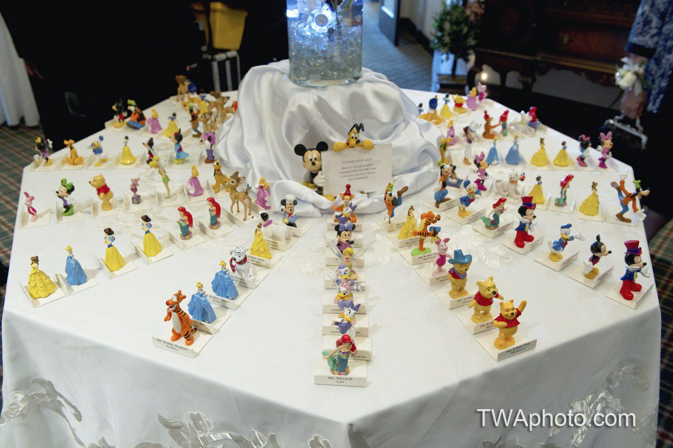Have The Wedding Guest Match Their Disney Character To The Table