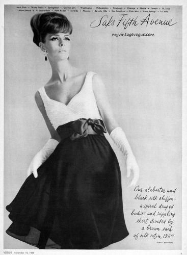Saks Fifth Avenue 1964 | Glamour, Clothing, poses | Pinterest | 60 s ...