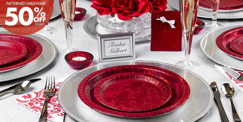 40th Wedding Anniversary Gift Ideas Parents: Ruby 40th Wedding Anniversary Party Supplies