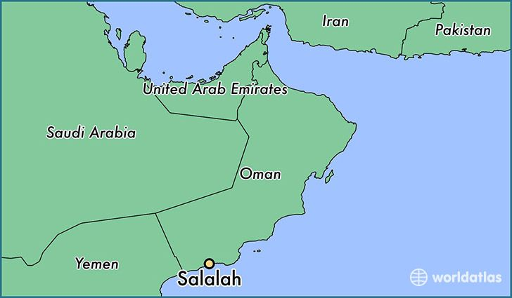Salalah Oman Locator