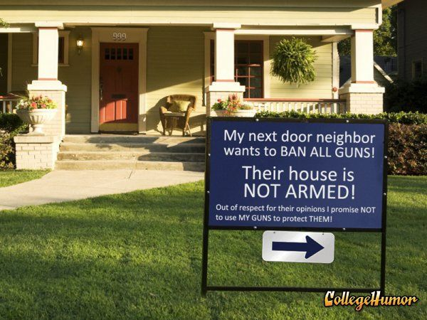Gun Control Sign Calls Out Neighbors | Funny | Pinterest ...