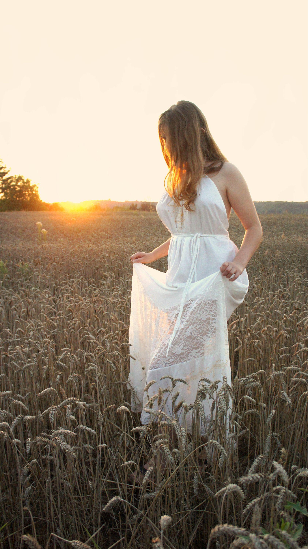 Country wedding dress painted boho dress boho rustic dress