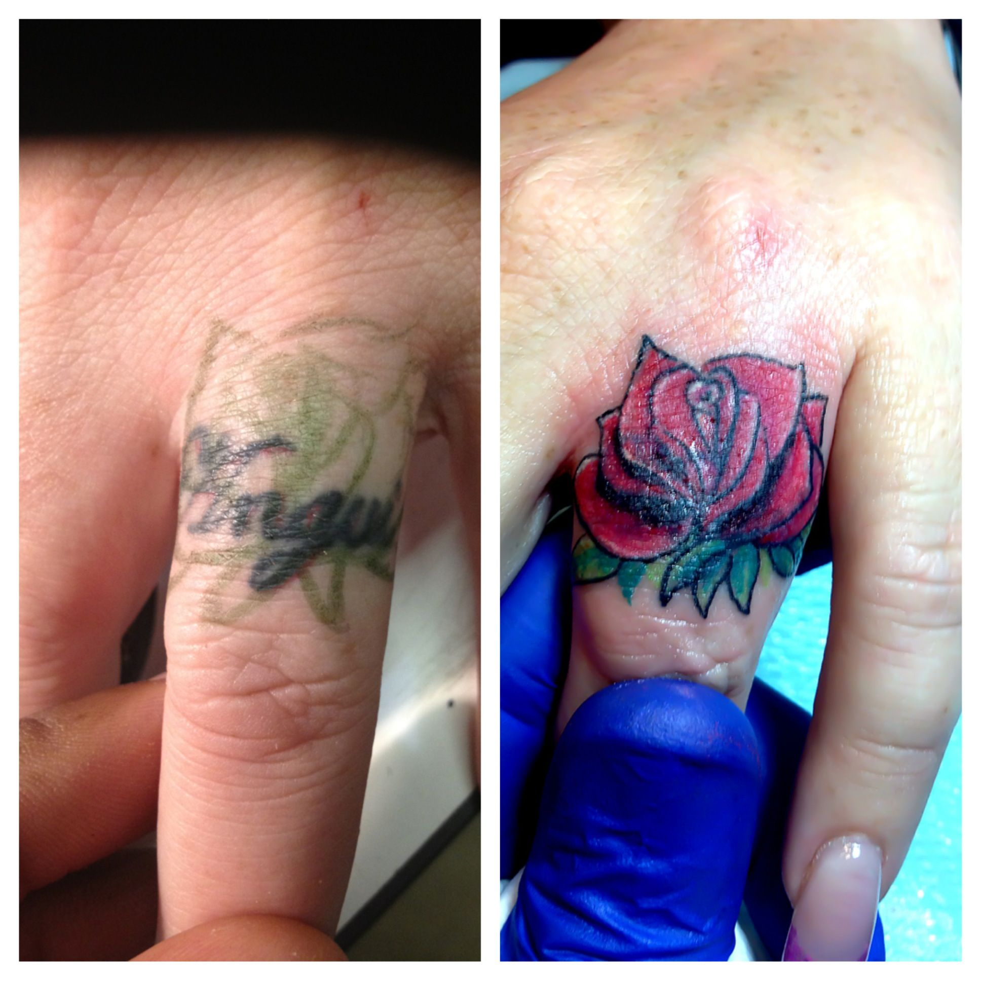 finger name cover up tattoos pinterest cover up