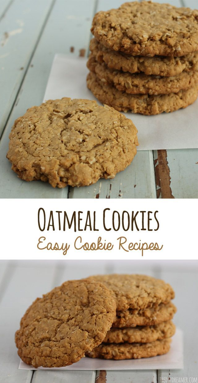Chewy Oatmeal Cookies - Easy Cookie Recipes