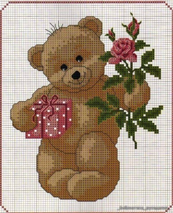 Картинки медведи вышивка