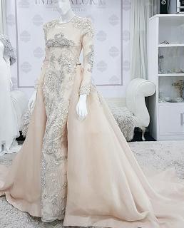 Baju Nikah Pastel Peach Dressmakers Pinterest Baju Nikah