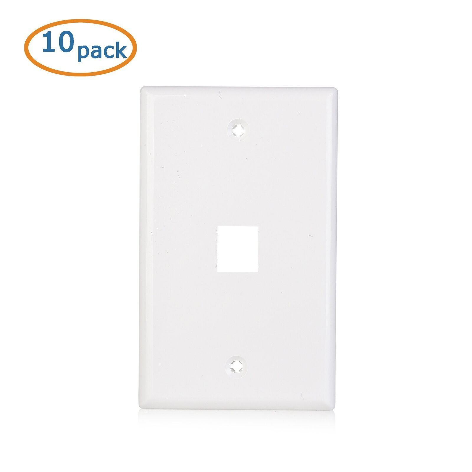 Cable Matters 10 Pack Low Profile 1 Port Keystone Jack Wall Plate In White Check More At Https Terrashopia Com Pr Plates On Wall Computer Network Low Profile