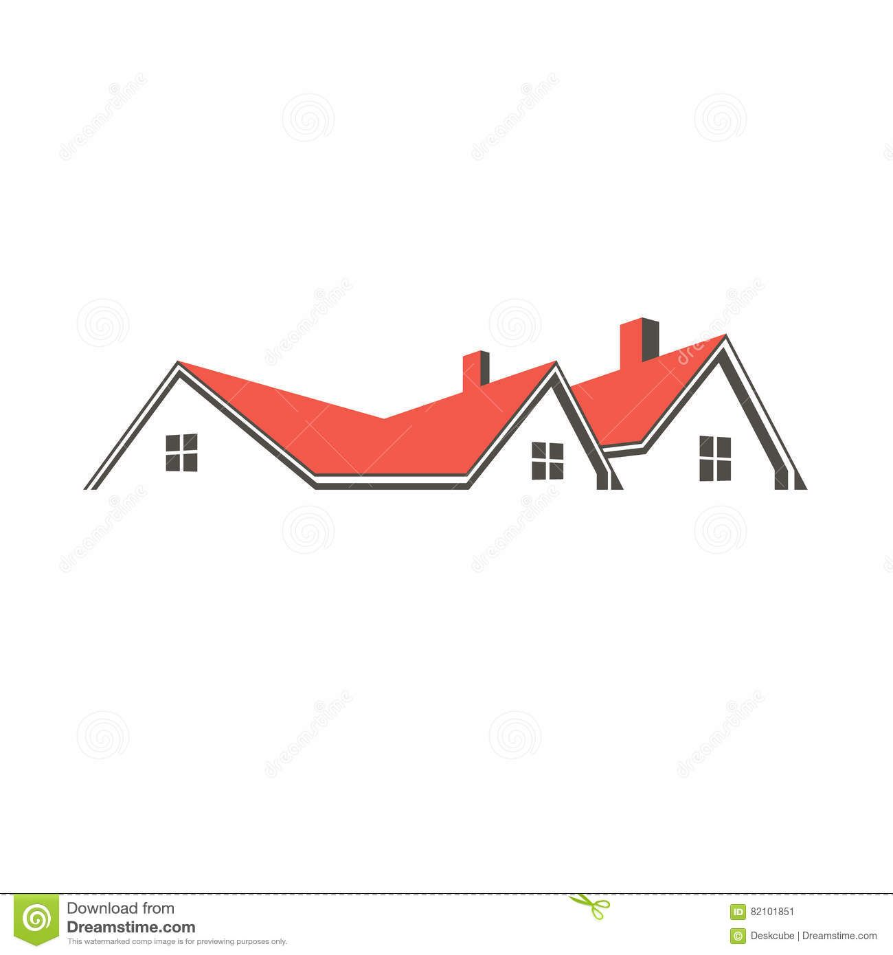 Roof Top Houses Illustration House Illustration Home Logo Roofing