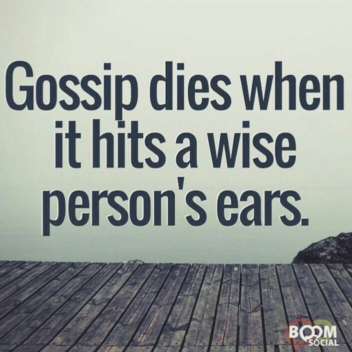 So true. Those that listen to it then gang up on someone