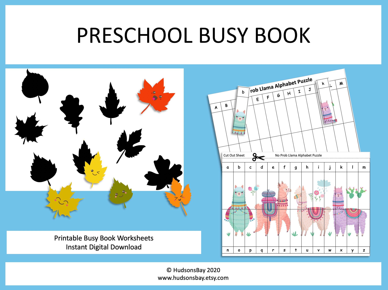 Preschool Busy Book Printable Preschool Learning Binder