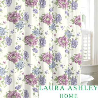 Overstockcom Laura Ashley Milner Cotton Shower Curtain This - Laura ashley curtains purple