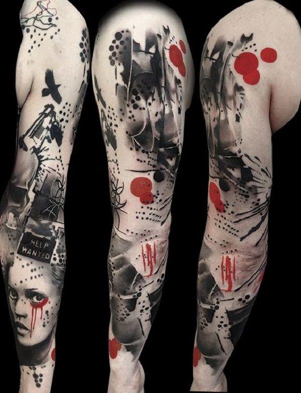Tatuajes En Negro Y Rojo Tattoo Designs Pinterest Trash Polka