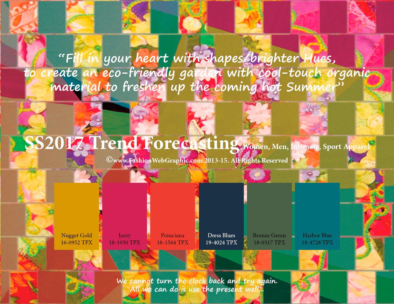 Springsummer 2017 Trend Forecasting Is A Trendcolor Guide That Offer