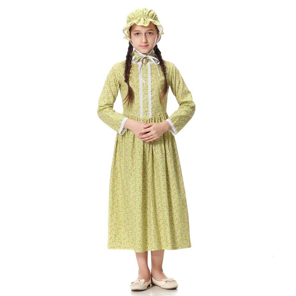 476fc674c1393 Victorian Kids Costumes & Shoes- Girls, Boys, Baby, Toddler Pioneer Girl  Costume Colonial Prairie Dress for Kids 100% Cotton $39.99 AT  vintagedancer.com