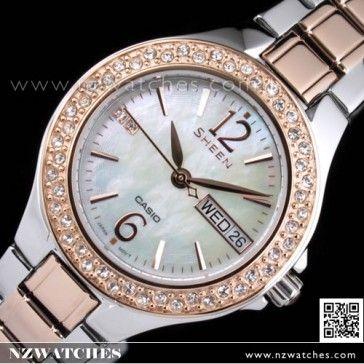 Casio Sheen SWAROVSKI Pink Gold Ladies Watch SHE-4800SG-7A 3d68becc2fba