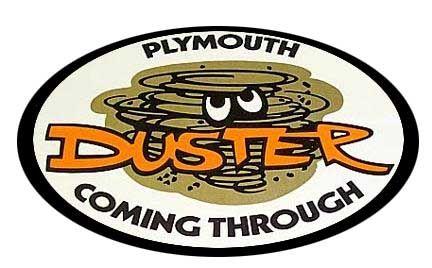 1971 /& 1972 Plymouth Duster Cloud Deck Lid Decal Mopar 1970