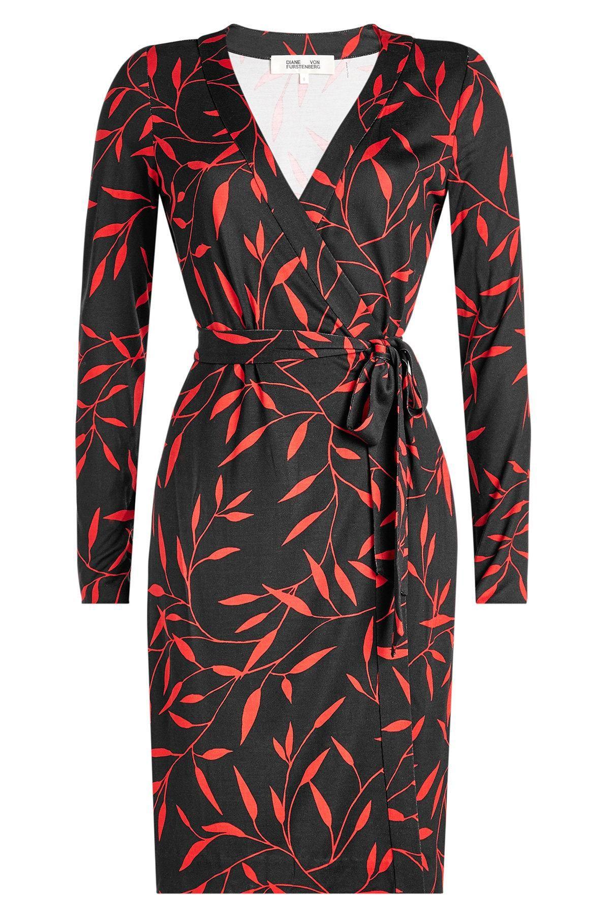 Diane von Furstenberg Bedrucktes Wickelkleid aus Seide | Diane von ...
