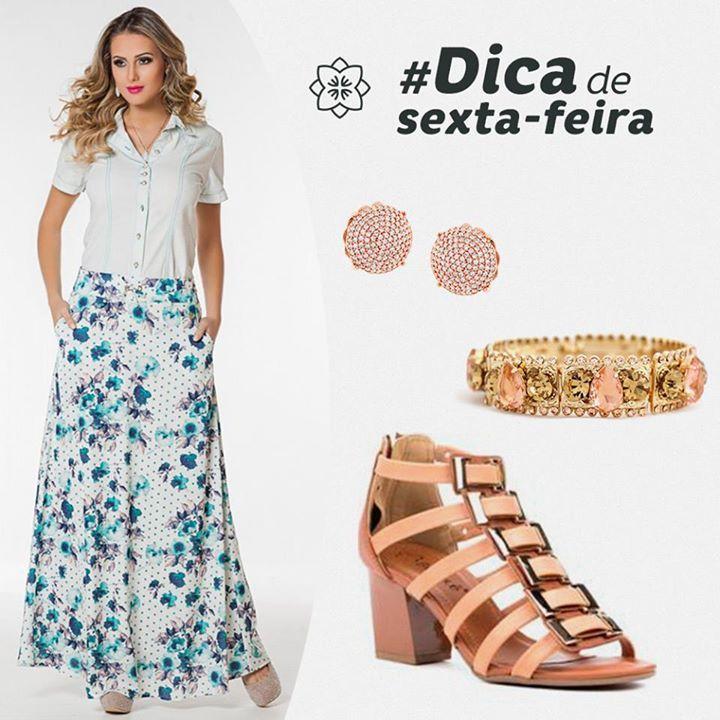 Aproveite o dia e essa dica linda  Amamos  Para comprar a saia, acesse: http://viaevangeli.ca/1jDHjAA
