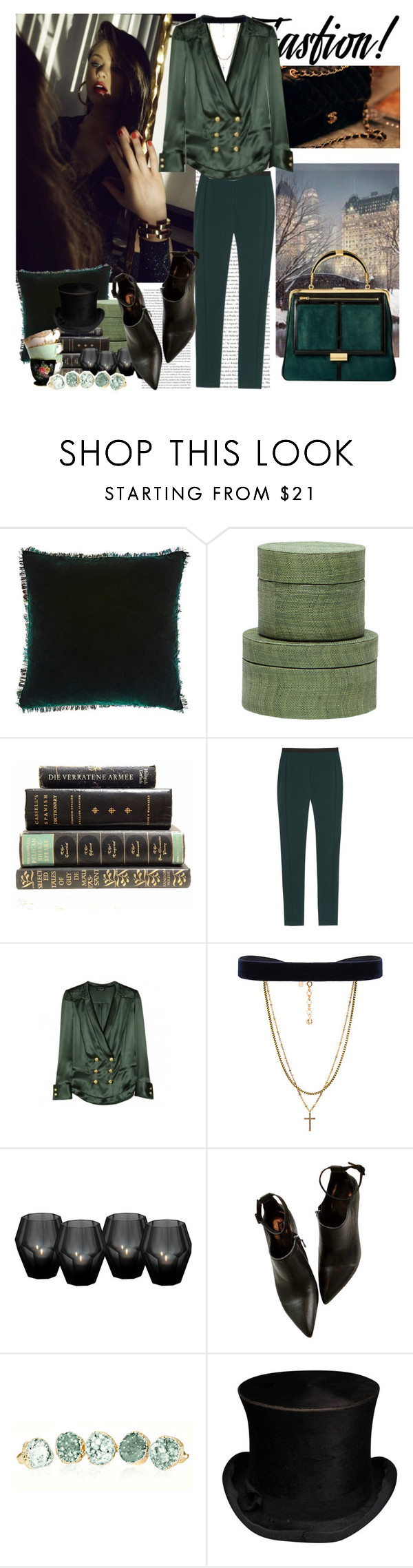 """""""Untitled #530"""" by moni4e ❤ liked on Polyvore featuring Chanel, Aviva Stanoff, Pigeon & Poodle, Chalayan, Balmain, Vanessa Mooney and Eichholtz"""