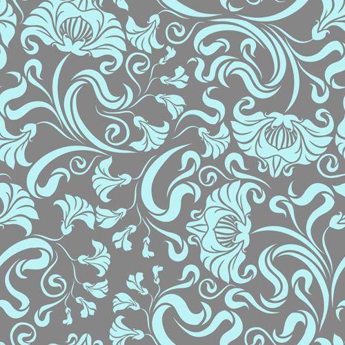 Gentle Floral Seamless Pattern Wallpapers Vector 04 Arte Floral