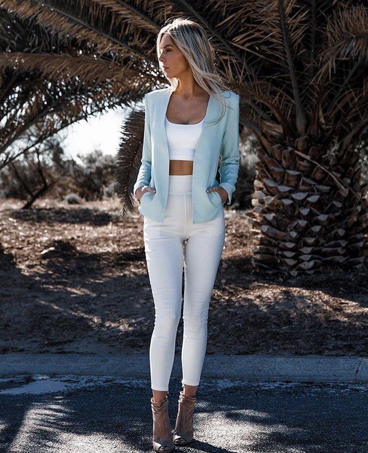 CASEY BLAZER MINT Blazer, White jeans, My style