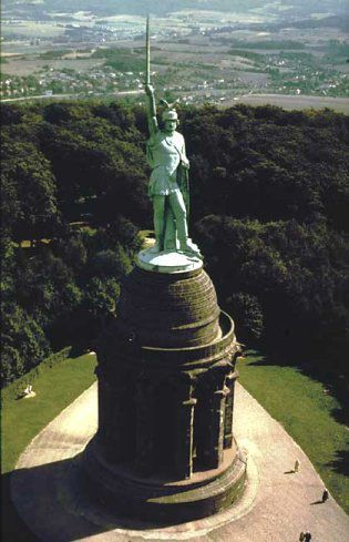 Statue of Hermann who defeated Varus and the Romans in Germany I've been here before, great view and would love to take em and matt there as well