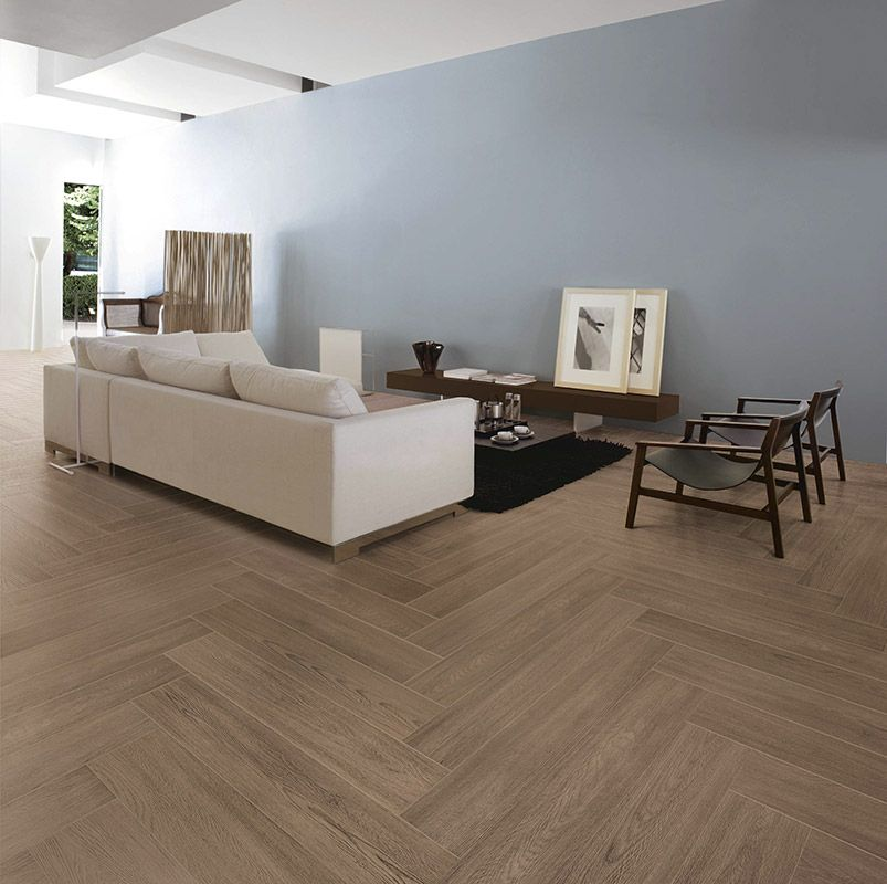 Brown Coppice Wood Effect Tiles For Floor Are Stunning In A Lounge
