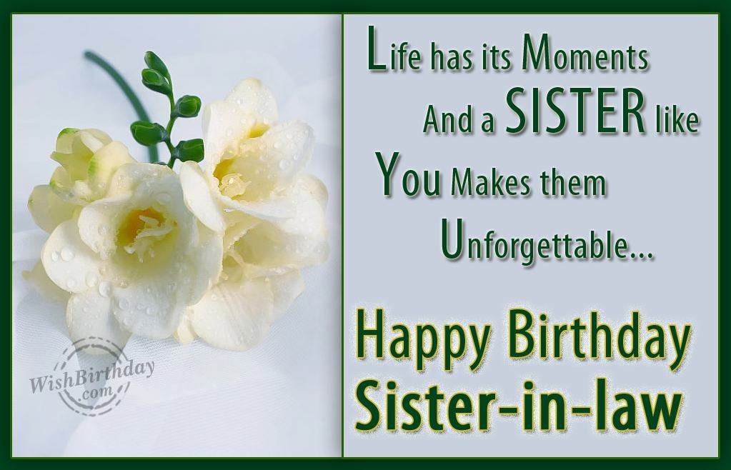Birthday Wishes For Sister Birthday Greetings For Sister Sister In Law Birthday