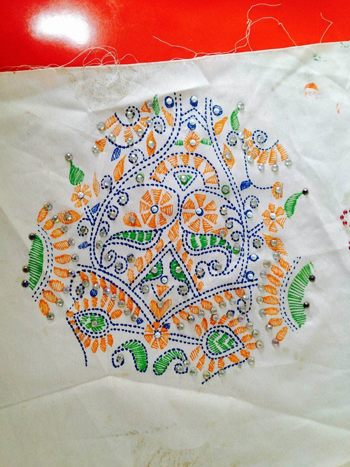 Liquid embroidery workshop by inifd gandhinagar
