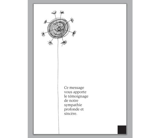 Moderne Trauerkarte mit Blume: Ce message... - http://www ...