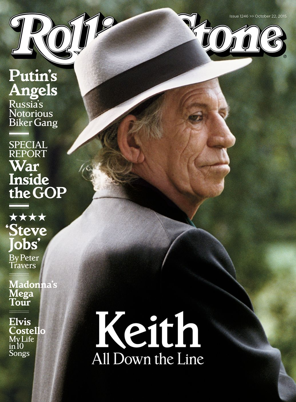 Keith Richards on the cover of Rolling Stone October 22, 2015