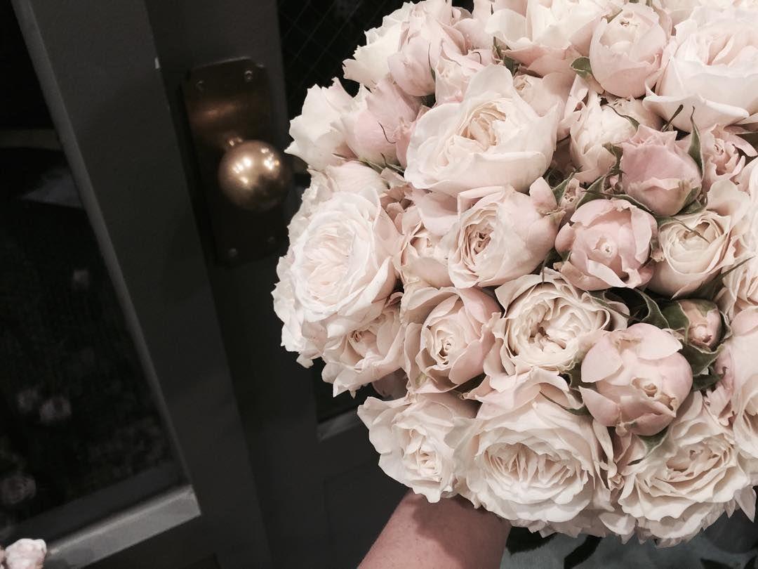 """""""장미두단을 그냥 잡기만햤는데 그냥 부케가 되어버림 ㅋㅋㅋ 사랑스러운 피치핑크  오늘 핸드타이 수업꽃  #미니장미 #미니로즈 #플라워레슨 #플라워클래스 #장미 #rose #논현동꽂집 #플라워아카데미 #flowerlesson #flowerclass #flowers #florist…"""""""