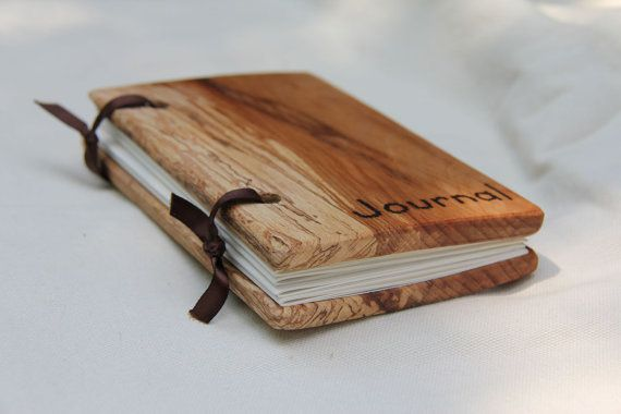 Small Woodcover Blank Journal Made From Reclaimed Wood And