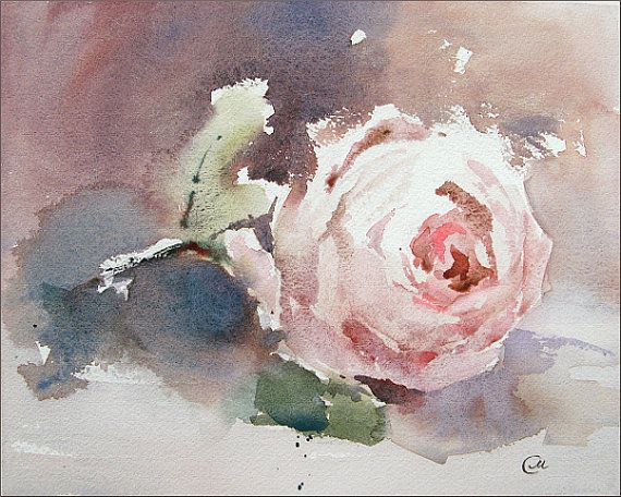 Rose Watercolor - Original Painting 8x10 inches