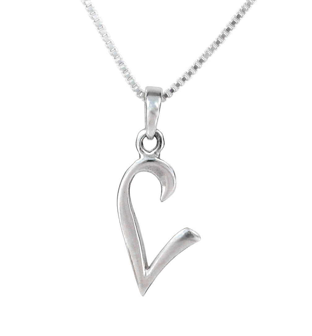 11+ Initial letter necklace silver ideas
