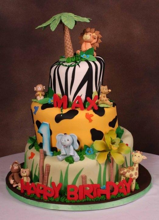 Jungle Theme Birthday Cake This One Already Has Maxs Name On It