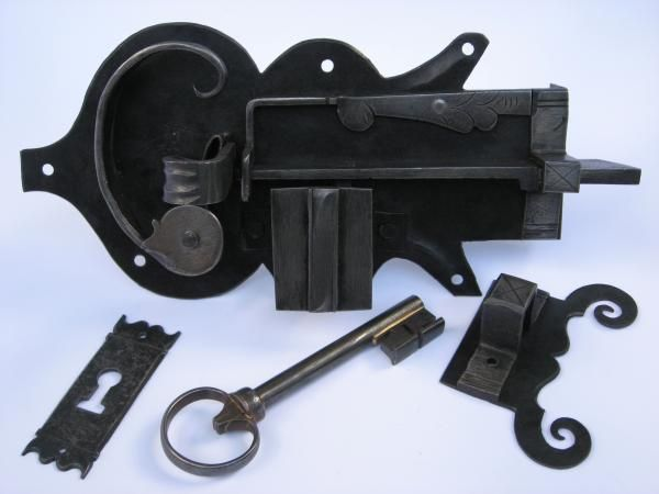 Custom Made Hand Forged Iron Door Locks by J.S.Benson Woodworking & Design