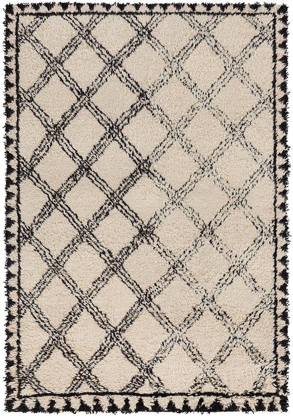 Surya Dwellstudio Riad Rid 3002 Rug Black And Ivory Moroccan Inspired