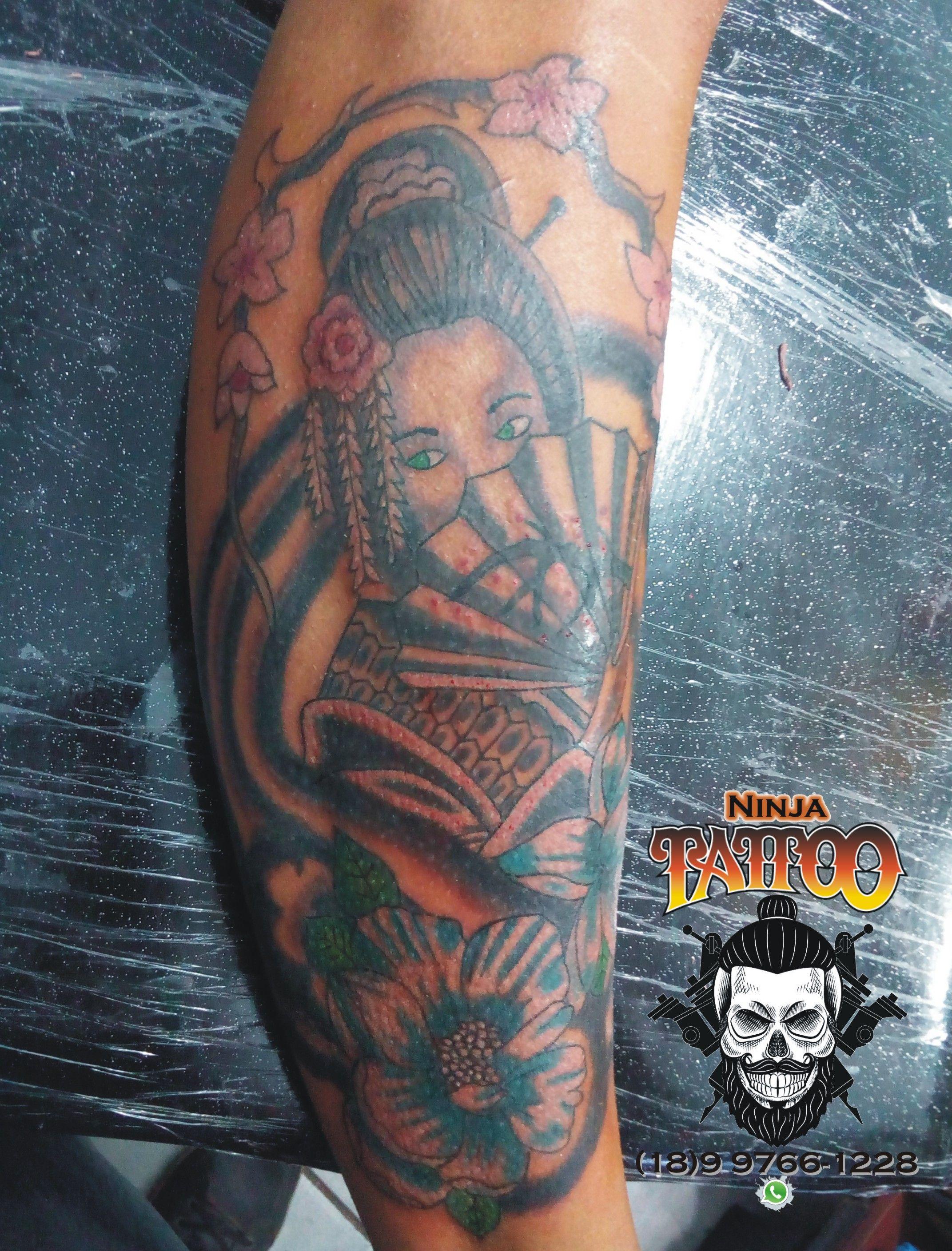 Tatuagem De Gueixa Japanische Ganzarm Tattoos Pinterest