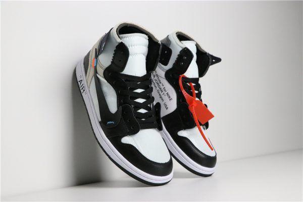 3a8633448bf8 2018 Off-White x Nike Air Jordan 1 Black White AA3834-102 For Sale