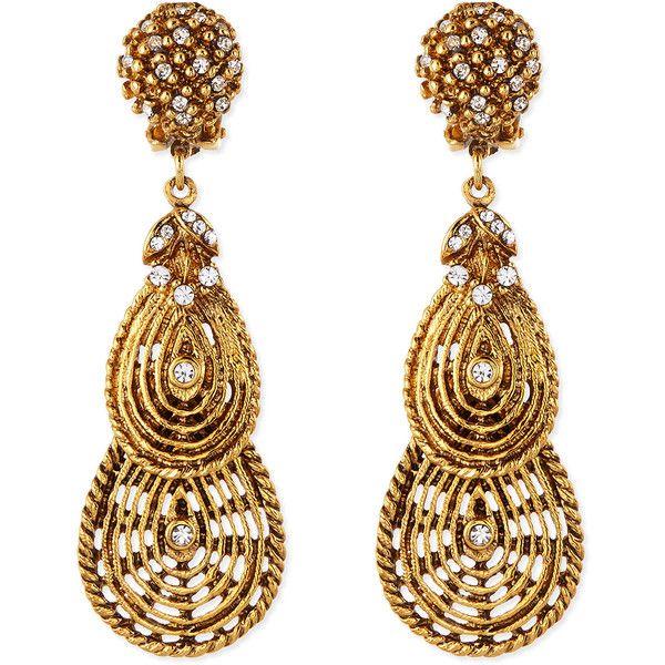Jose & Maria Barrera Crystal Flower Clip-On Earrings uRtnfuyeaQ